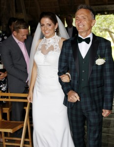 Proud Father walking Daughter down the aisle