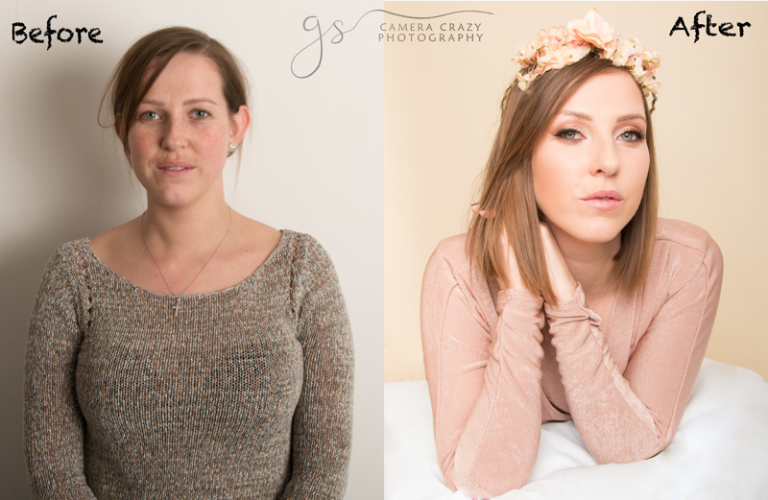 Before and after Portrait Session 1