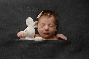 Newborn Sleeping Colour Photo