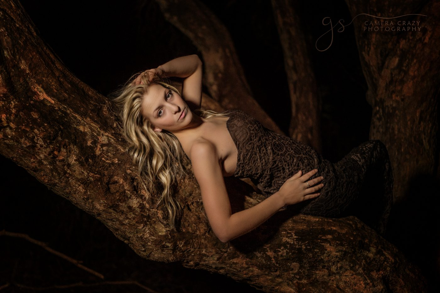 Fine Art Image Lady laying in tree