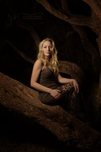 Fine Art Image Lady sitting in tree