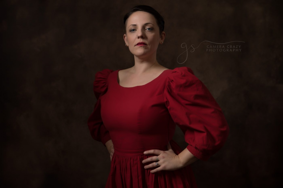 Fine Art Portrait Lady in Red