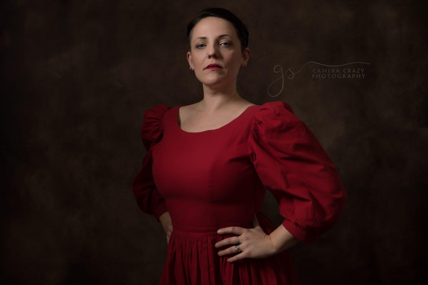 Fine Art Portrait Lady in Red