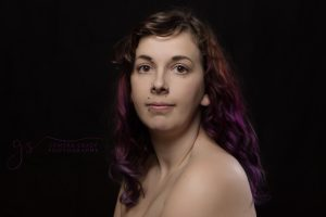 Head Shot Purple Hair