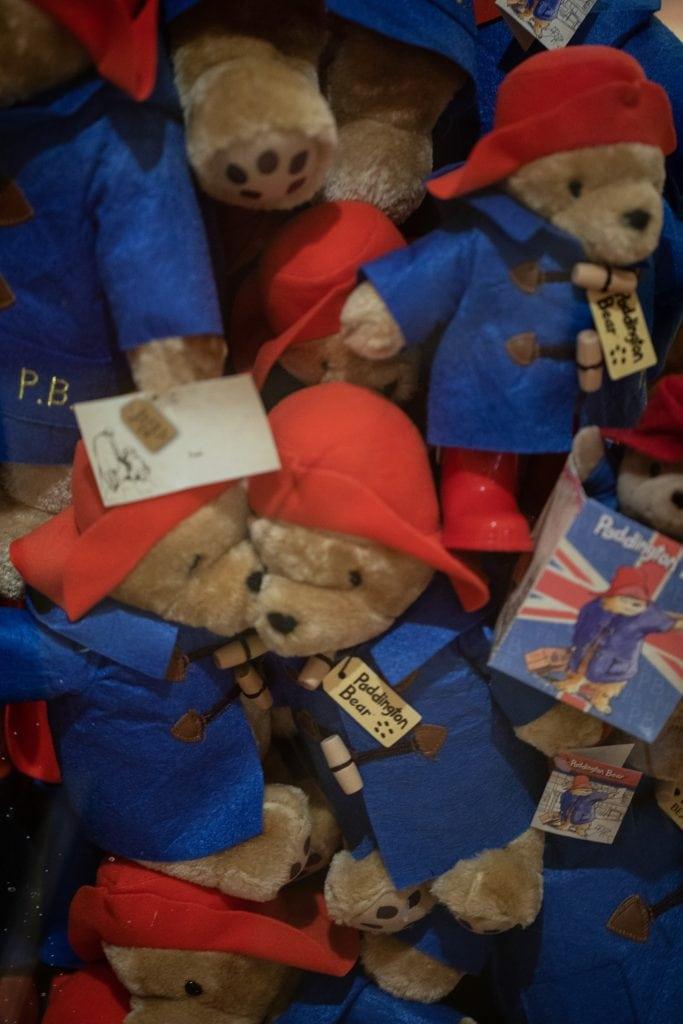 a box of Paddington Bears, image taken at Hilton Hotel Paddington
